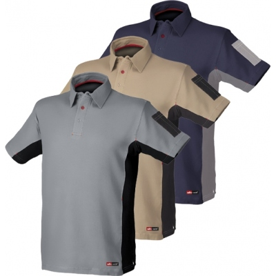 STARTER POLO STRETCH AZUL/GRIS 8170 T-L