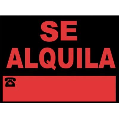 JG SEÑALIZACION SEÑAL SE ALQUILA 40X30CM 963