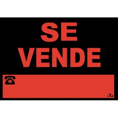 JG SEÑALIZACION SEÑAL SE VENDE 40X30CM 962