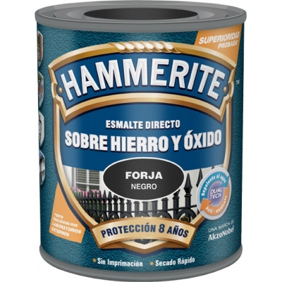 HAMMERITE HAMMERITE METALICO FORJA 750ML NEGRO