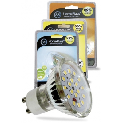 HOMEPLUSS LAMPARA DIC.18LEDS GU10 4,6W 3000K