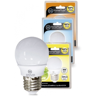 HOMEPLUSS LAMPARA ESFERICA LED E27 4W 3000K