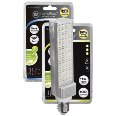 HOMEPLUSS LAMPARA PL LED E27 11W 6000K 230V