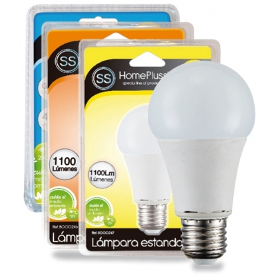 HOMEPLUSS LAMPARA ESTAND.LED A65 E27 11W 3000K