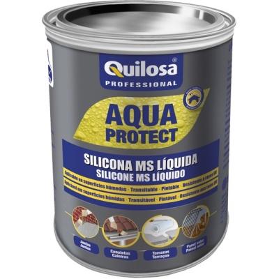QUILOSA SILICONA MS LIQUIDA 3095 1KG NEGRO