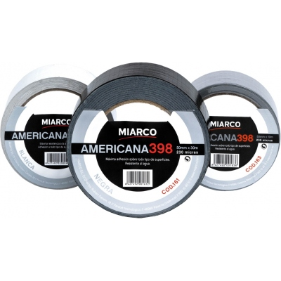 MIARCO CINTA AMERICANA 398-50MMX10M NEGRO