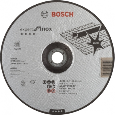 BOSCH CONSTRUCCION / INDUSTRIA DISCO CONCAVO AS46T INOX BF 230X1,9X22,2