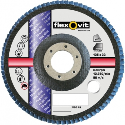 FLEXOVIT DISCO ZIRCONIO F.VIDRIO 115X22/Z80GFC