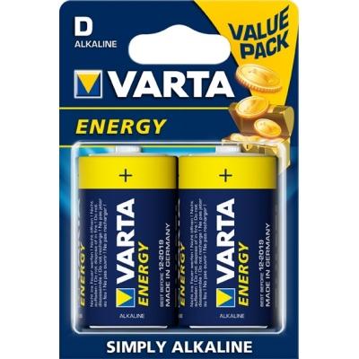 VARTA PILA ALCALINA ENERGY 4120-LR-20 D (2UDS)