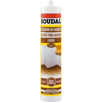 SOUDAL SELLADOR MADERA 300ML 125623 PINO