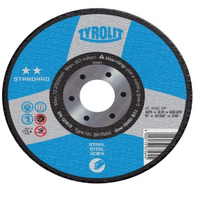 TYROLIT DISCO 42X A30-BF 125X2,5X22,2 STANDARD