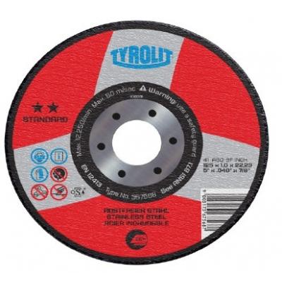 TYROLIT DISCO 41X A46BF.INOX 125X1,6X22,2 STAND