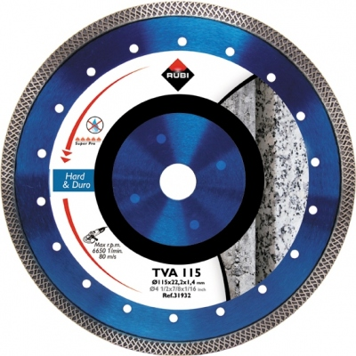 RUBI DISCO DIAMANTE TVA 31932 115MM SUPERPRO