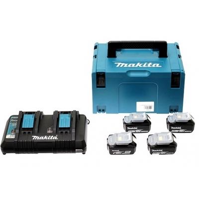 MAKITA MALETIN + 4 BATERIAS 18V 5.0AH + CARGADOR DOBLE