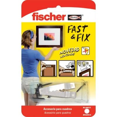 FISCHER COLGADOR CUADROS 534845 FAST&FIX RECT.BL