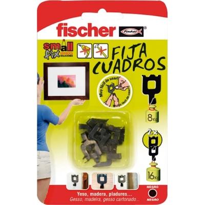 FISCHER FIJA CUADROS NEGRO 518168 BLISTER