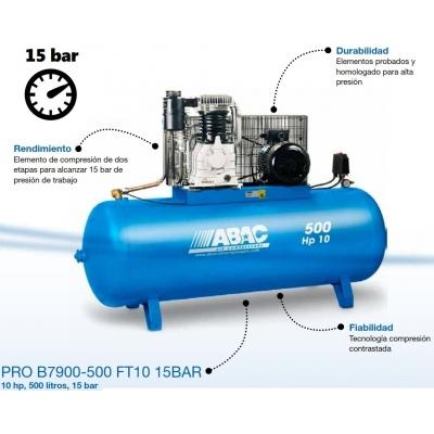 COMPRESOR ABAC PRO B7900-500 FT 10HP 15BAR (S/T)