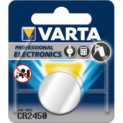 PILA BOTON LITIO CR2450 3V VARTA VARTA