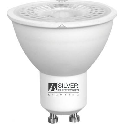 LAMPARA ECO DICROICA 1460 LED GU10 8W 6000K SILVER SANZ