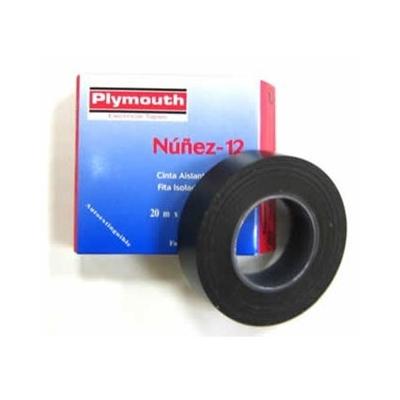 PLYMOUTH CINTA AISLANTE PVC 5082-20MX19MM NEGRO