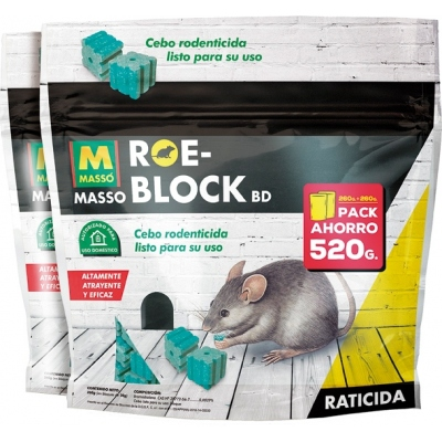 RATICIDA ROE-BLOCK 231535 2X1 260G+260G ROE