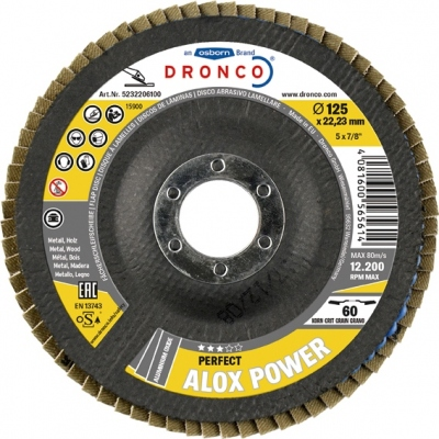 DRONCO DISCO LAMINAS ALOX POWER 115X22 GRANO 60