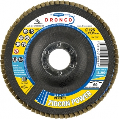 DRONCO DISCO LAMINAS ZIRCON POWER 115X22 GRANO 80