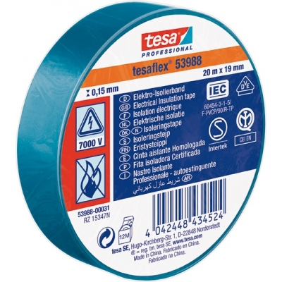 TESA-TAPE CINTA AISLANTE 53988-20MX19MM AZUL