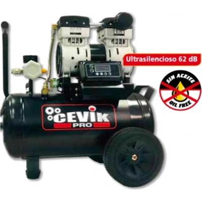 CEVIK COMPRESOR SILENCIOSO PRO24SILENTX 1,5HP 24L