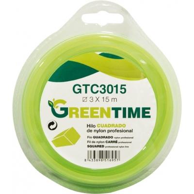 GREEN TIME HILO NYLON CUADRADO GTC3330 3,3MMX30M