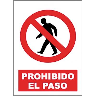 JG SEÑALIZACION SEÑAL PROHIBIDO PASO SP897 40X30
