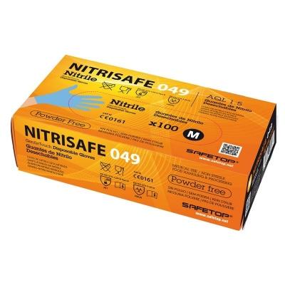 SAFETOP GUANTE DESECHABLE NITRILO 049A T-07 AZUL 100UDS