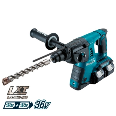 MAKITA DHR264PM4 MARTILLO PERFORADOR 36V 4,0 Ah + PORTABROCAS