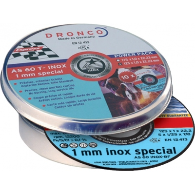 DRONCO DISCO AS60TINOX-BF 125X1X22,2 LATA 10 UDS