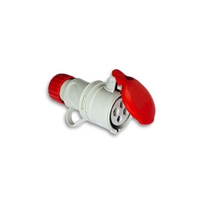 ASEIN BASE CETAC 1100057 3P+N+T 380V/16A ROJO