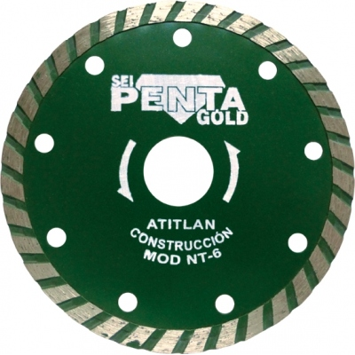 PENTA DISCO DIAMANTE NT-6 115 TURBO CONSTRUC.