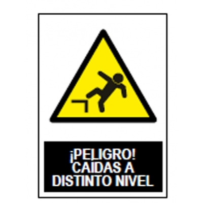 JG SEÑALIZACION SEÑAL ADV.PELIGRO CAIDA DIS.NIVEL SA1004