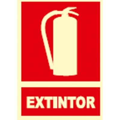 JG SEÑALIZACION SEÑAL FOTOLUMINES.EXTINTOR EX001
