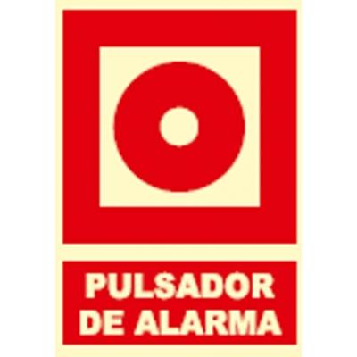 JG SEÑALIZACION SEÑAL FOTOLUMINES.PULSADOR ALARM.EX038