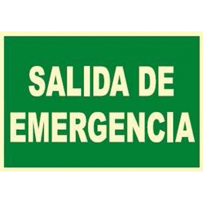 JG SEÑALIZACION SEÑAL FOTOLUMINES.SALIDA EMERGEN.EV101